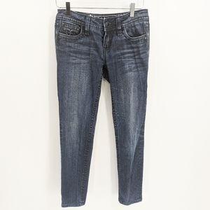 Rock Revival Tara Skinny Dark Fleur de Lis Jeans